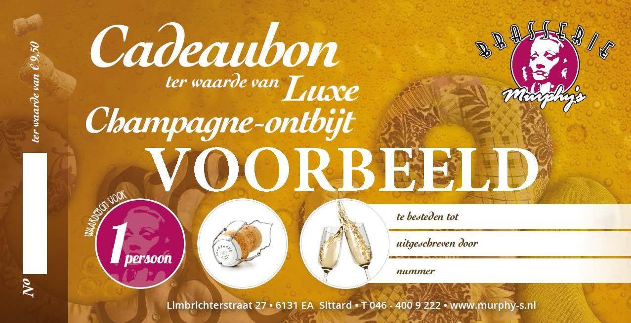 Cadeaubon Champagne Ontbijt